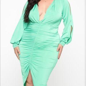 Fashion Nova midi mint dress
